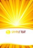 Descripteur de carte de rayon de soleil Photos libres de droits