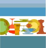 Descripteur de carte de restaurant Image libre de droits