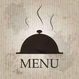 Descripteur de carte de restaurant dans le rétro type grunge Images stock