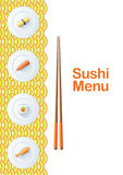 Descripteur de carte de sushi Photos libres de droits