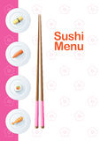 Descripteur de carte de sushi Photos stock