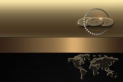Descripteur de carte de visite professionnelle de visite. Fond d'or. illustration stock