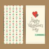 Descripteur de carte du jour de Valentine Photos libres de droits