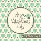 Descripteur de carte du jour de Valentine Images libres de droits