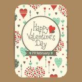 Descripteur de carte du jour de Valentine Photographie stock libre de droits