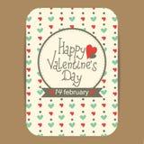Descripteur de carte du jour de Valentine Photo libre de droits