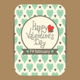 Descripteur de carte du jour de Valentine Photos stock