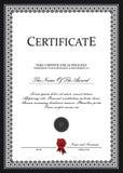 Descripteur de certificat Photographie stock libre de droits