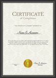 Descripteur de certificat Image libre de droits