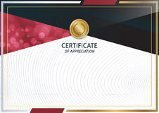 Descripteur de certificat illustration libre de droits