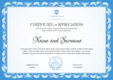 Descripteur de certificat Diplôme de conception moderne ou de chèque-cadeaux illustration de vecteur