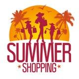 Descripteur de conception d'achats d'été. Photographie stock libre de droits