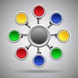 Descripteur de conception d'Infographics Images libres de droits