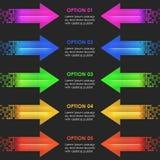 Descripteur de conception d'Infographics flèches Photographie stock libre de droits