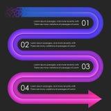 Descripteur de conception d'Infographics flèches Photos stock