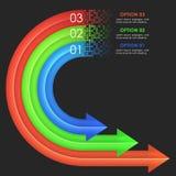 Descripteur de conception d'Infographics Flèches circulaires Photographie stock