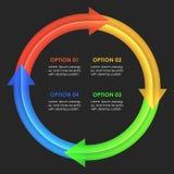 Descripteur de conception d'Infographics Flèches circulaires Photos libres de droits