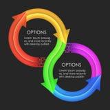 Descripteur de conception d'Infographics Flèches circulaires Photographie stock libre de droits