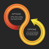 Descripteur de conception d'Infographics Flèches circulaires Image stock