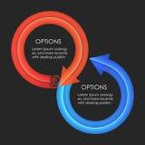 Descripteur de conception d'Infographics Flèches circulaires Image libre de droits