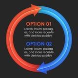 Descripteur de conception d'Infographics Flèches circulaires Images stock