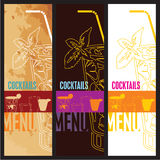 Descripteur de conception de carte de carte de cocktails Photographie stock