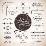 Descripteur de conception de carte de restaurant Photo stock