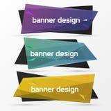 Descripteur de conception de drapeau Style moderne d'origami Vecteur illustration de vecteur