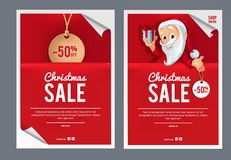 Descripteur de conception de vente de Noël Photographie stock