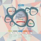 Descripteur de conception web de vecteur Image stock