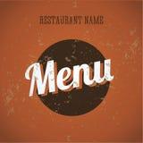 Descripteur de cru de carte de carte de restaurant Image libre de droits