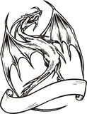 Descripteur de dragon. Images libres de droits