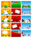 Descripteur de fond de Noël Photos libres de droits