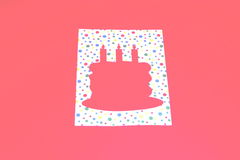 Descripteur de gâteau d'anniversaire Photos stock