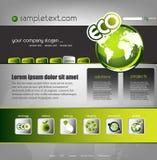 Descripteur de site Web d'écologie Images stock