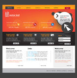 Descripteur de site Web d'affaires Images libres de droits