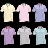 Descripteur de T-shirt de polo avec l'avant et le dos de collet Images stock