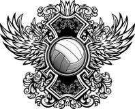 Descripteur graphique fleuri de volleyball Photos stock