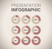 Descripteur/infographics doux modernes de conception de couleur Photos stock