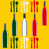 Descripteur italien de carte de vin Photos libres de droits