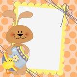 Descripteur mignon pour la carte postale de Pâques Photos stock