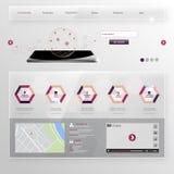 Descripteur moderne de site Web Image stock