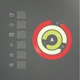 Descripteur moderne de vecteur Cycle abstrait Cercle interrompu par trois Photos stock