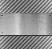 Descripteur ou configuration de plaque métallique Images stock