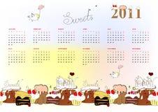 Descripteur pour le calendrier 2011 Images libres de droits
