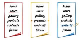 Descripteurs 7 de navigation de Web illustration stock