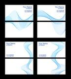 Descripteurs, avant et dos de cartes de visite professionnelle de visite Image stock