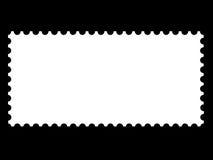 Descripteurs blanc d'une estampille Image libre de droits