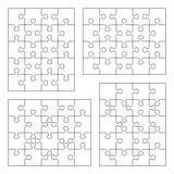 Descripteurs de blanc de puzzle denteux Photos libres de droits