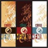 Descripteurs de conception de carte de café Image stock